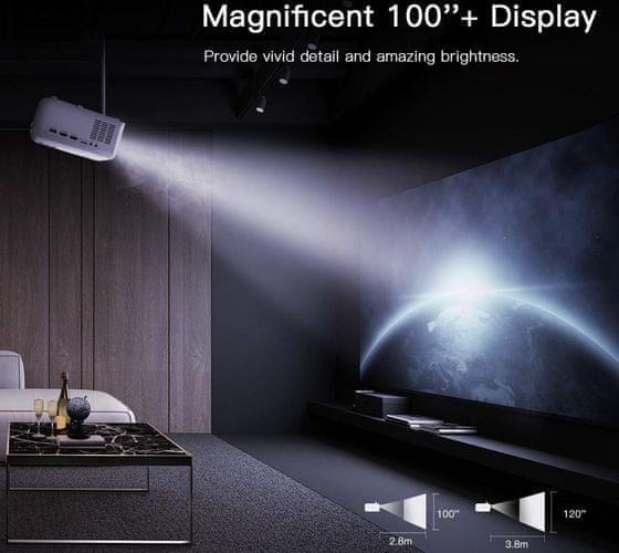 Projektor Apeman LC550 (LC550) Full HD 4 000 lm výdrž LED