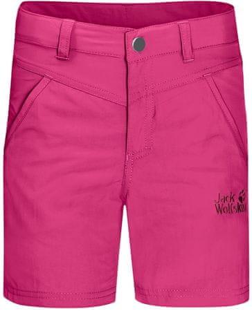 Jack Wolfskin Sun Shorts K kratke hlače za djevojčice, 104, roze