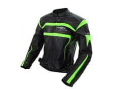 Cappa Racing Bunda moto pánská ITALIA kožená černá/zelená