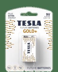 TESLA 1099137028 GOLD Alkaline baterie 9V (6LR61, 9V, blister) 1 ks