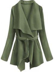 Amando Krátky kabát s viazaním v páse 553ART zelený