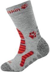 Jack Wolfskin dievčenské ponožky KIDS HIKING STRIPE CLASSIC CUT