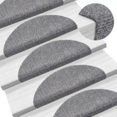 Samolepiace kobercové nášľapy na schody 15ks 56x16x4cm svetlosivé