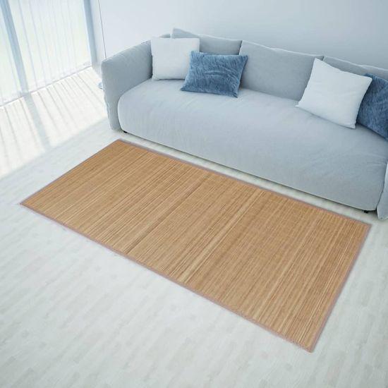 shumee Obdélníková hnědá bambusová rohož / koberec 80 x 300 cm