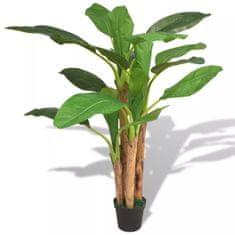 shumee Umelá rastlina, banánovník s kvetináčom 175 cm, zelený