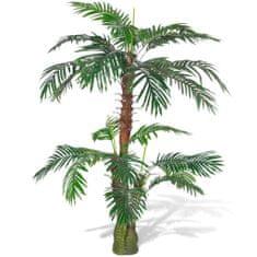 shumee Umelá palma Cykas v črepníku, 150 cm