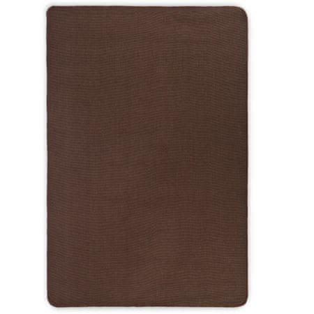 shumee sötétbarna juta szőnyeg latex hátoldallal 120 x 180 cm