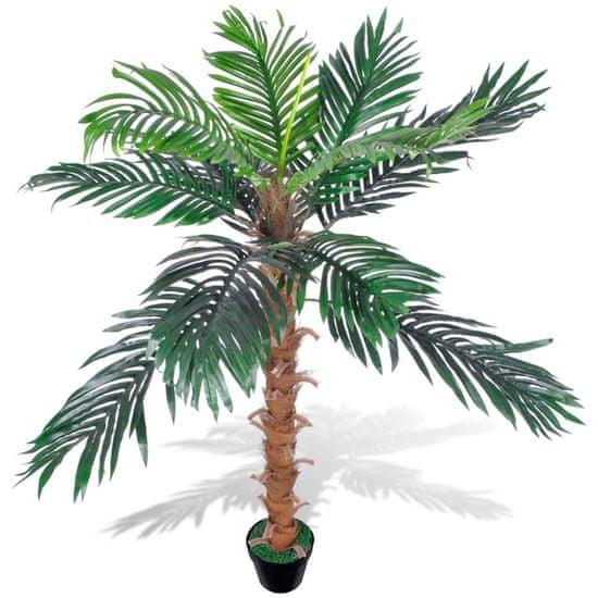 Umelá kokosová palma v črepníku, 140 cm