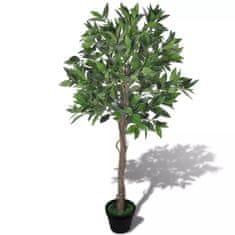shumee Sztuczne drzewko laurowe 120 cm z doniczką