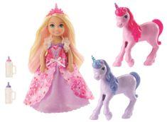 Mattel Barbie Princezna Chelsea a hříbátko jednorožce