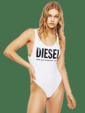 Diesel Lia 00SUXZ-0PAYT női egyrészes fürdőruha, S, fehér