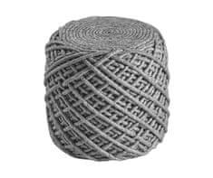 Obsession Sedací vak ROYAL POUF POR 888 Silver (Rozměry koberců Průměr 40-45 cm)