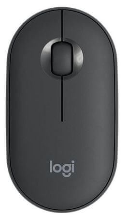 Logitech Pebble M350 brezžična miška, grafitna