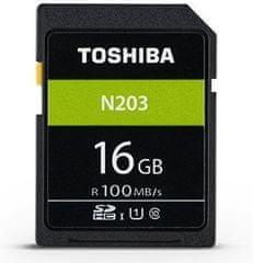 TOSHIBA SDHC 16GB N203 UHS-I, U1, 100MB/s, Class 10 (THN-N203N0160E4)