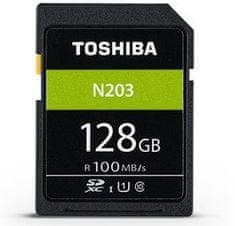 TOSHIBA SDXC 128GB N203 UHS-I, U1, 100MB/s, Class 10 (THN-N203N1280E4)