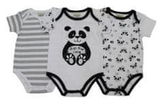 Just Too Cute body dziecięce 3Pack - panda