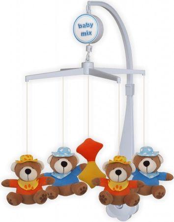 Baby Mix Plüss körhinta a kiságy fölé - Medvék kalappal
