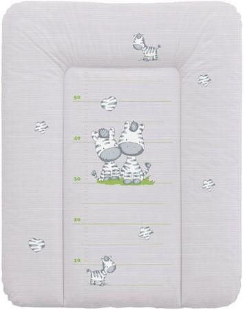 Ceba Baby Pelenkázó alátét komódra, puha, 50 x 70 cm Szürke zebra