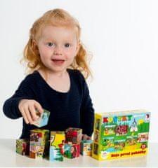 Teddies Kostky kubus dřevěné Moje první pohádky 12ks