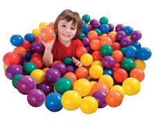 Teddies Míček/Míčky do hracích koutů 6,5cm barevný 100ks v tašce