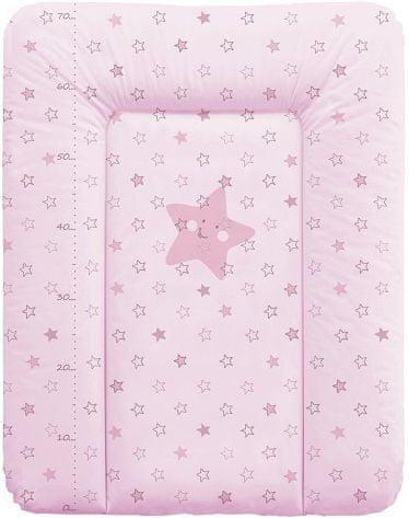Ceba Baby Přebalovací podložka na komodu měkká 50 x 70 cm - Hvězdy růžová