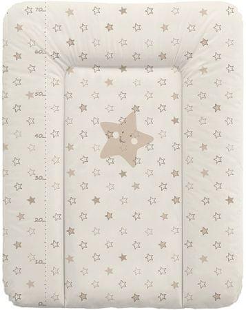 Ceba Baby Pelenkázó alátét komódra, puha, 50 x 70 cm Csillagok, bézs