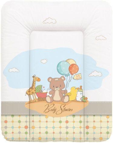 Ceba Baby Přebalovací podložka na komodu měkká 50 x 70 cm - Medvídci s balónky