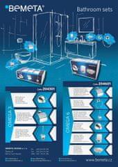 BEMETA Bemeta Omega 6 chrrom set držák toaletního papíru, držák ručníku, WC štětka, dvojháček, držák sklenice a mýdlenka (204601OMEGA6)