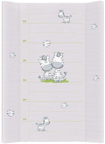 Ceba Baby Přebalovací podložka měkká 70 cm profilovaná - Zebra šedá