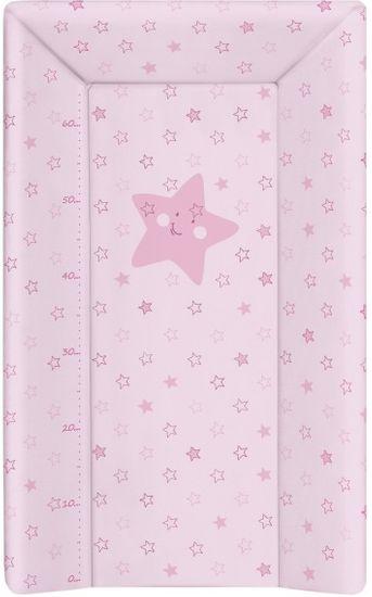 Ceba Baby Přebalovací podložka měkká 80 cm trojhranná - Hvězdy růžová