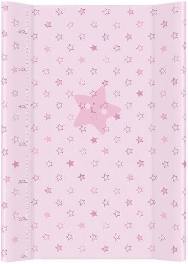 Ceba Baby Přebalovací podložka měkká 70 cm profilovaná - Hvězdy růžová