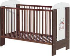 COSING łóżeczko dla dziecka KAMIL 120x60 - Wenge/białe