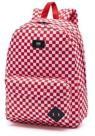 Vans férfi hátizsák, piros Mn Old Skool III Backpack Red Check