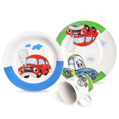 Orion Sada jídelní porc. dětská AUTO 3 ks