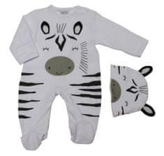 Just Too Cute śpioszki chłopięce z czapką - zebra