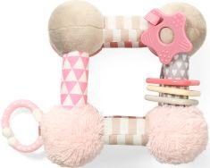 BABY ONO Edukační plyšová hračka CUBE - růžová