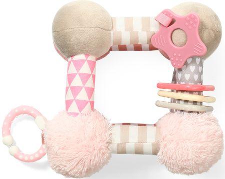 BABY ONO poučna plišasta igrača Cube, roza
