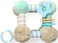 BABY ONO Edukační plyšová hračka CUBE - mátová