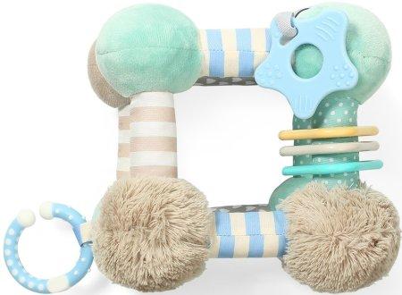 BABY ONO zabawka edukacyjna, pluszowa CUBE - miętowa