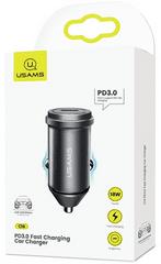 USAMS CC095 Fast 18W PD 3.0 USB Autonabíjačka Grey (EU Blister) (CC95GC02)