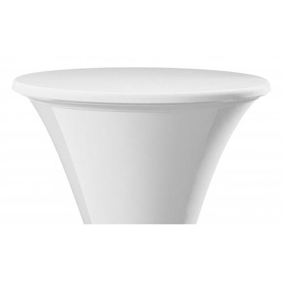 DENA Elastický potah STEP na desku stolu Ø 60cm - bílý