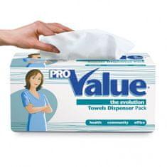 Carind Srl Italy Ručníky papírové skládané VALUE Dispenser Pack 2-vrstvé bílé, 180ks