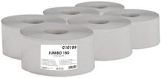 BM plus Toaletní papír JUMBO Standard 190 1-vrstvý šedý, 6 rolí