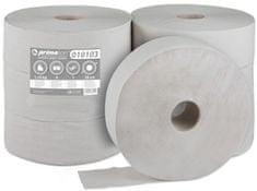 BM plus Toaletní papír JUMBO PrimaSoft 280, 1-vrstvý šedý, 6 rolí