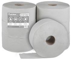 BM plus Toaletní papír JUMBO PrimaSoft 230, 1-vrstvý šedý, 6 rolí