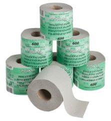 BM plus Toaletní papír PrimaSoft 600 1-vrstvý šedý, 32 rolí