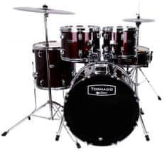 Tornado Studio Set Dark Red Súprava bicích s činelmi