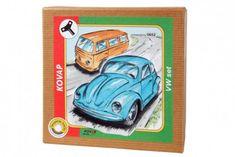 KOVAP VW brouk+minibus set na klíček kov v krabičce Kovap