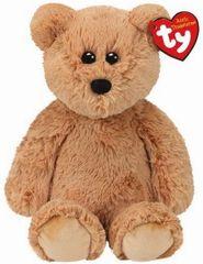 TY Beanie Boos plyšový medvěd sedící hnědý 33 cm