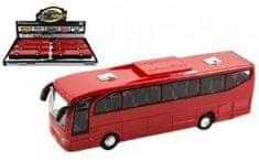 Teddies Autobus červený 23 cm na setrvačník se zvukem se světlem